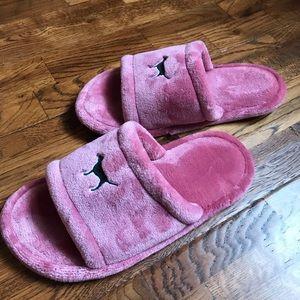 PINK slipper sandals size M